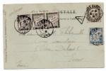 1903 - CP De La GARE De CHARTRES (EURE ET LOIRE) Pour EVREUX Avec TAXE De 8 Cts - Marcophilie (Lettres)