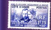 COTE D´IVOIRE :P Et M Curie: Y&T :140* - Costa D'Avorio (1892-1944)