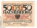 Notgeld 50 Pfennig Hachenbourg  - Allemagne / Germany - [11] Local Banknote Issues