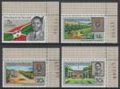 Burundi 1967 1st Anniversary Of The Republic. Mi 378-381 MNH - 1962-69: Neufs