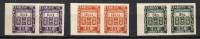 1/ Inde Taxe  N° 19 22 & 27 Non Dentelé Paire Neuf XX ,  Cote : 50,00 € , Disperse Trés Grosse Collection ! - India (1892-1954)