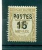 Monaco 1937 - Y & T  N. 142 - Timbres-taxe De 1924 - 32 Surchargés Dentelés - Monaco