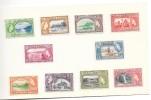 TRINIDAD & TOBAGO 10 Timbres Sites Profils Souvenir D'émission Neufs Avec Charnières - Trinidad & Tobago (1962-...)