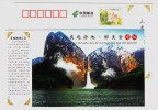 180 Meters High Clift Waterfall,CN 12 Two Million Years Ago Jianshi Homo Erectus Fossil Relic Site Pre-stamped Card - Vacanze & Turismo