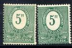 UPPER SILESIA 1920 Definitive 5 Pfg. 'HI' Variety In Two Shades.  Michel 3 I. - Germany
