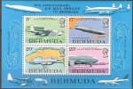 Bermuda 1975 Yvertn° Bloc 2 *** MNH Cote 18 Euro Avions Vliegtuigen Airplanes - Bermudes
