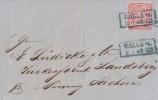 NDP Brief EF Minr.4 R2 Halle/S. 2.1. Blauer Stempel Gel. Nach Landsberg - Norddeutscher Postbezirk