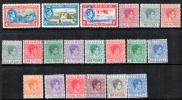Bahamas 1938 SC 100-113 Mint George VI