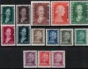 Argentina 1953 SC O79-O92 MNH Eva Peron - Argentina