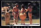 THAILAND - 2 Buben Und Mädchen Beim Nacktbaden, Hübsche Karte Um 1990 - Thaïland