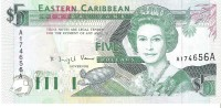 East Caribbean States - Pick 26a - 5 Dollars 1993 - Unc - Caraibi Orientale