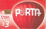 ECUADOR - Balloon, Porta Telecard $3, Chip GEM3.1, Used
