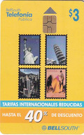 ECUADOR - Stamps, BellSouth Telecard $3, Chip GEM3.3, Used