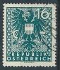 1945 AUSTRIA USATO STEMMA AQUILA 16 P - A151 - 1945-60 Gebraucht