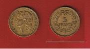 -----  5 Francs 1945 C   Bronze Alu  --  état  TTB ----- - France