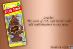 Leather, LITTLE TREES CAR-FRESHNERS, Carded Air Fresheners, Made In USA, NEW - Accessories