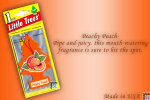 Peachy Peach, LITTLE TREES CAR-FRESHNERS, Carded Air Fresheners, Made In USA, NEW - Accessories