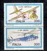 Y486 - Italia 1981 - Aerei - Augusta Aeritalia - Coppia USATA Perfetta - 6. 1946-.. Repubblica