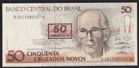 Brazil 50 Cruzeidos 1990 P223 UNC - Brésil