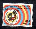 Y515 - ITALIA - 1990 - Usato - Coppa Del Mondo Di Calcio - Spagna - 6. 1946-.. Repubblica