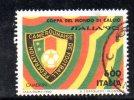 Y537 - ITALIA - 1990 - Usato - Coppa Del Mondo Di Calcio - Camerun - 6. 1946-.. Repubblica