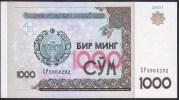 Uzbekistan 1000 Som 2001 P82 UNC - Ouzbékistan