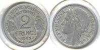 FRANCE (F662) une pi�ce 2 francs 1949 B - Morlon Alumium. Marianne
