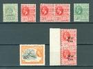 British Guiana Lot Of 8 Ships War Tax Train WYSIWYG MNH  A04s - Guyana Britannica (...-1966)