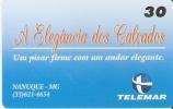 TARJETA DE BRASIL DE A ELEGANCIA DOS CALÇADOS DE TIRADA 10000 - Brésil