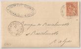 SEYNE LES ALPES Basses Alpes Sur Lettre Au Type Mouchon. - 1877-1920: Période Semi Moderne