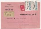 BOISSY ST LEGER Seine Et Marne Sur Recommandé Avec AR. - Postmark Collection (Covers)