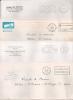 4 FLAMMES P.P Du RHONE SUR 4 ENVELOPPES. - Postmark Collection (Covers)
