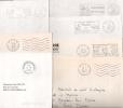 6 FLAMMES P.P + Un CachetPP  SUR 7 ENVELOPPES. TOUS DIFFERENTS. - Postmark Collection (Covers)