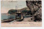 REF 232 CPA Beau Plan D'un Tramway Tram Route De Nice à Monaco Baie D'Eze - Tramways