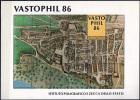 ERINNOFILIA - 1986 - VASTOPHIL 86 - CARTINA ANTICA DI VASTO - FOGLIETTO NUOVO MNH** - Erinnophilie