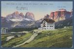 Hotel Pordoi Am Pordoijoch Mit Langkofel Und Sella, Gelaufen 1925 (AK587) - Ohne Zuordnung