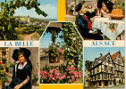 LA BELLE  ALSACE    VILLAGE DANS LE VIGNABLE   MULTIVUE       (VIAGGIATA) - Francia
