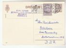 1961 DENMARK 15o Kingdom Stamps On UPRATED 20o POSTAL STATIONERY CARD To Germany Cover - Postal Stationery