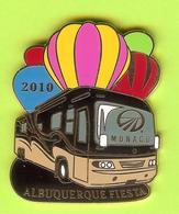 Pin's Montgolfière Albuquerquee Fiesta 2010 Bus Autobus Monaco - 9U27 - Luchtballons