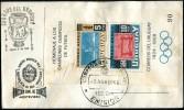 URUGUAY - Sobre Especial Hoja Block Homenaje A Los Campeones Olímpicos De Fútbol (1965) - Verano 1928: Amsterdam