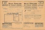 BILLET POPULAIRE DE CONGÉ ANNUEL - Titres De Transport