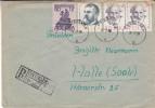 Médecin - Philosophe - Pologne - Lettre Recommandée De 1958 - Oblitération Ostroznica - Expédié Vers Halle Saale - Storia Postale