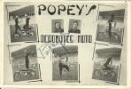 LES POPEY'S, Acrobates Moto, Dédicacée, M. Eustache à Auch, Gers, 2 Scans - Zirkus