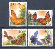 Nbr1386 FAUNA BUTTERFLIES SCHMETTERLINGE MARIPOSAS PAPILLONS NEDERLANDSE ANTILLEN 2002 PF/MNH - Schmetterlinge