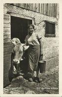 AK Sennerin Mit Milchkanne + Kuh 1933 #09 - Campesinos