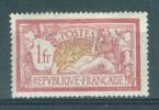 FRANCE - Yv. Nr 121 - Merson - MH*  - Cote 31,00 € - 1900-27 Merson