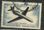 France 1957 500f Caravelle Issue #c35 - Airmail