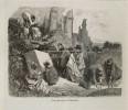 1860 - Gravure Sur Bois - Gustave Doré - Pierrefonds - Visite Des Ruines - FRANCO DE PORT - Estampes & Gravures