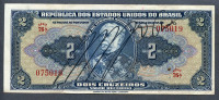 Brésil P 133  2 Cruzeiros 1944  AXF Série 76 N° 075019 3 Plis!!! - Brasile