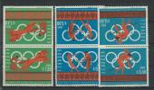 EC - 1966 - 1265-1267 -OLYPISCHE SPIELE KEHRDRUCKE - TETE BECHE(3 WERTE)   - MNH - POSTFRISCH ** -ECUADOR - EQUATEUR - Equateur